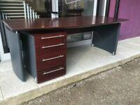 2000 x 800 Mahogany executive desk