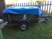 CAMPING TRAILER ALSO SUITABLE FOR BUILDING PROJECTS.