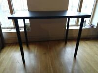 Desk - IKEA Linnmon Black Desk top + 4 Black Legs