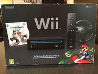 Wii Console Mario Kart pack and games bundle