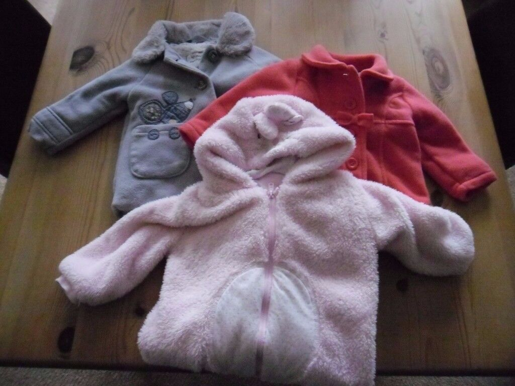 Girls coats 9-12 months Next and Nutmeg plus F&F all in one 9-12 months