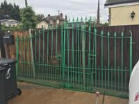 RAW IRON GOOD QUALITY GATES 12 WIDE 6FT HIGH