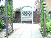 garden bench seat arbour
