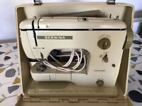 Bernina 707 sewing machine in hard case with original instruction manual - serviced May 2017