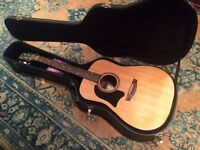 Garrison acoustic guitar. (including hard case) High quality, Lovely Warm Sound