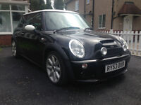 Mini Cooper S - 53 Plate - John Cooper Works Bodykit - Black With White Roof - MOT & History