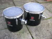 """Drums - Pair of Premier Concert Toms 10"""" and 8"""""""