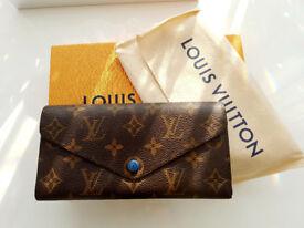 100% Genuine Louis Vuitton Josephine Blue Monogram Purse/Wallet M41739