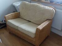 Wicker 2 seater couch.