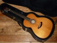 Manson Magpie OM size acoustic with LR Baggs pickup and Ameritage USA hard case