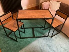 Compact Three-Piece Table & Chairs