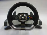 XBOX360 Wireless Steering Wheel with Force Feedback (Official) - COLLECTION ONLY