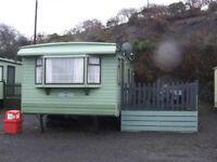 Static caravan, near Borth, 2018 site fees paid, clean and affordable
