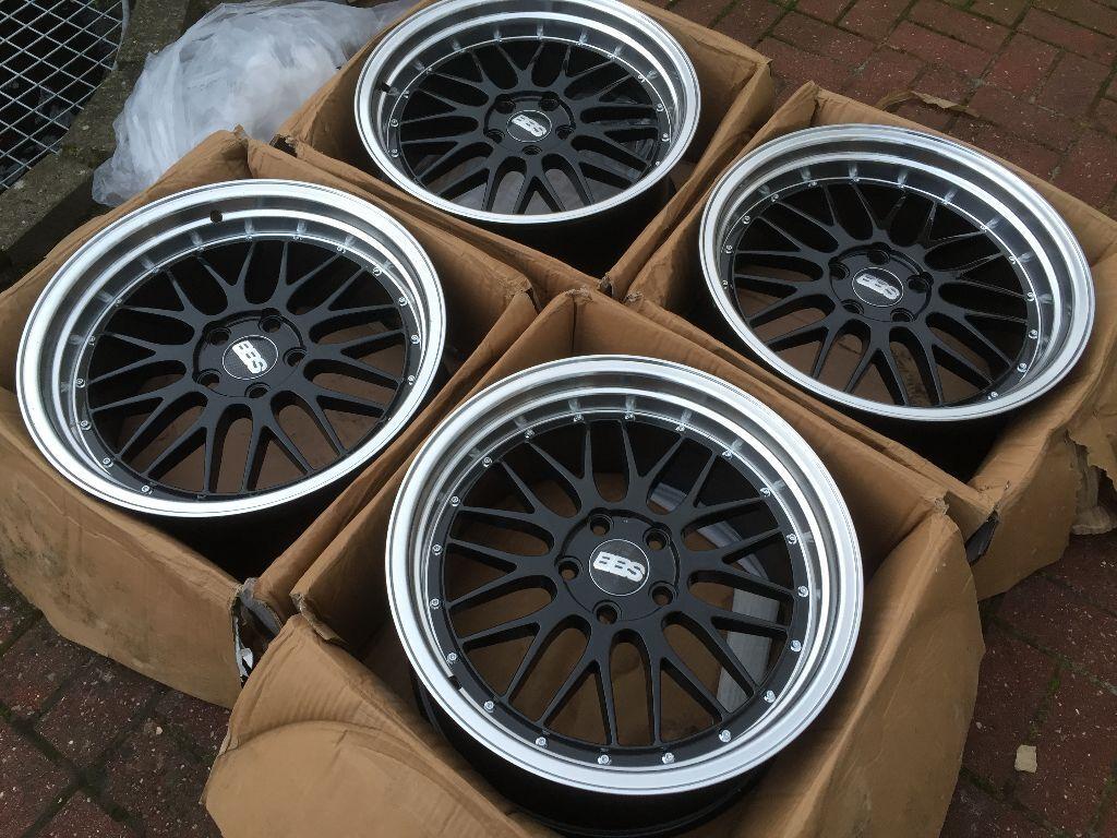 4 X 18 Quot New Boxed Black Bbs 5x112 Deep Dish Alloy Wheels