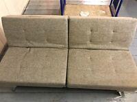 Debenhams Sofa Bed - Grey/Brownv