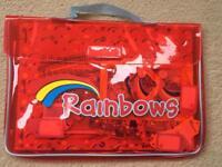 Rainbows bag and craft materials
