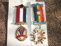 2 x Masonic Medals ~ 50th Anniversary VE-VJ Day & Millenium 2000 ~ £15 For BOTH