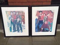 Pair of quality Soviet Era framed prints excellent central London bargain