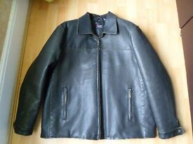 *Mens Dark Brown ~ Faux Leather Jacket* Size Large