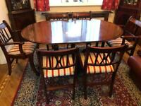 Dining room reproduction table and 6 chairs