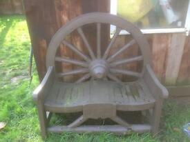 Lovely garden benches/cartwheels