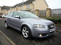 Audi A3 Sport Quattro 2.0 TDI, 6 speed, Full Service History, Full MOT to Feb 2018