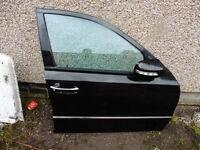 Mercedes W211 E Class 02-08 O/S/F Driver Front Door Saloon Black NO.8100 complete door