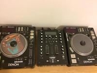 CD Decks Denon dns5000 and citronic mixer