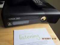 Black xbox360 250 GB with extras