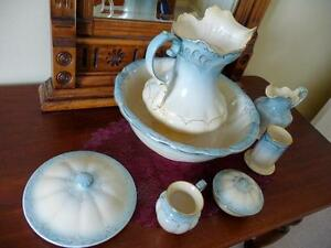 Antique Stoke on Trent Devon Ware Feildings England 9Pc Wash Set Oakville / Halton Region Toronto (GTA) image 2