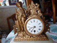 ORNATE MANTLE CLOCK, LOTS OF DETAIL, BARGAIN £30, CAN DELIVER,