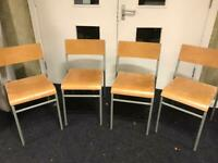 40 vintage school chairs £35 each