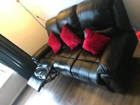 Faux leather 3 and 2 seater recliner sofas