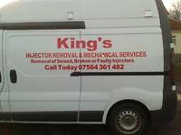 KING'S INJECTOR REMOVAL SERVICE LOUTH LINCOLNSHIRE