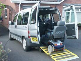 Peugeot Partner Wheelchair Adapted vehicle WAV 1.4 Petrol 1stReg 27/2/09 timing belt replaced