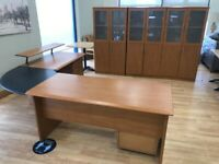 Large Corner Office Desk and Office Furniture - HOME OFFICE