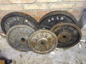 Olympic weights for sale - 79k in total