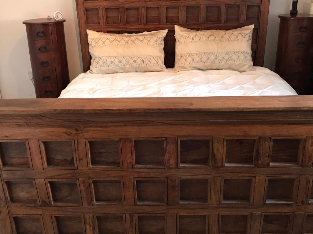 Superking Solid Wood Bed Frame Bespoke Very Sturdy In