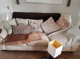 Soft Furnishings; Throws, Cushions, Lamp and Clock