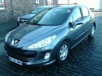 2008 08 PEUGEOT 308 1.6 HDI 5DR ** DIESEL ** ONLY 69000 MILES ** £30 ROAD TAX ** 12 MONTH MOT **