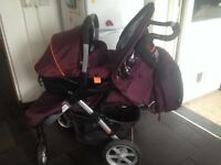 Pram carcoon for sale trax by Haick excellent con waterproof hoods £100 Ono 07851815150