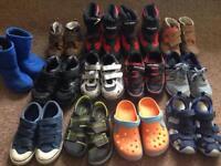 Joblot bundle 13 pairs boys shoes boots size 12