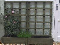 trellis, planters, window boxes