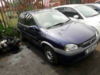VAUXHALL CORSA B 1.0 3 POT. BREAKING FOR SPARES. GOOD ENGINE AND SHELL