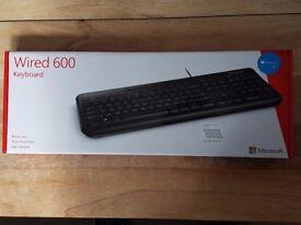 Microsoft Keyboard wired 600 Model 1576 - Brand New, in box RRP £20