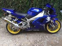 Yamaha R1 1998 VGC Blue 25000, 3 owners.