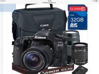Canon 80D ef-s 18-55mm is STM Zoom Lens +75-300mm III Telephot Lens + 32GB memory + Canon Camera Bag