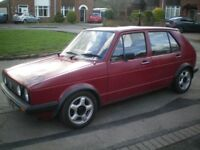 VW Golf C Formel E MK1 with 1.1 engine any many extras. MOT`d and ready to go.
