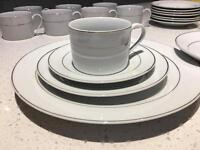 Set of dinner plates and tea cups