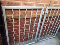 Wrought iron gate, French made, used.